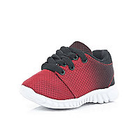 Mini boys red ombre trainers