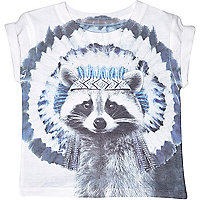 Mini boys short sleeve racoon t-shirt