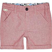 Mini boys red shorts