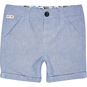 Mini boys blue shorts