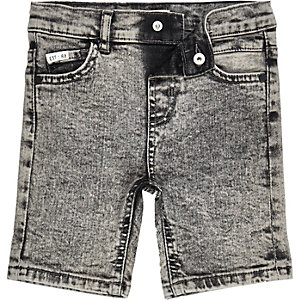 Mini boys acid wash denim shorts
