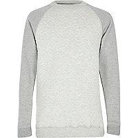 Boys grey and stone contrast sweatshirt