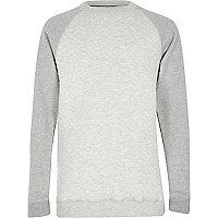 Boys grey and stone contrast sweatshirt