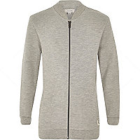 Boys grey long sleeve bomber jacket