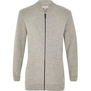 Boys grey long sleeve bomber jacket