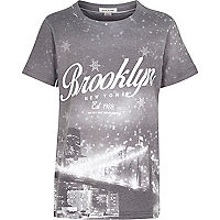 Boys grey Brooklyn New York t-shirt