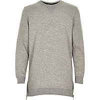 Boys grey side zip sweatshirt