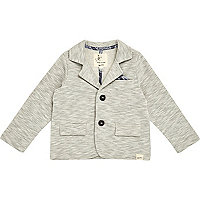 Mini girls grey marl jersey blazer