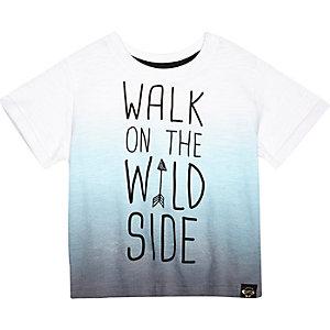 Mini boys blue walk on the wild side t-shirt
