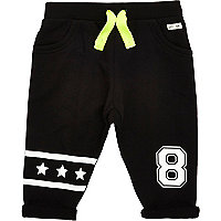 Mini boys black star joggers