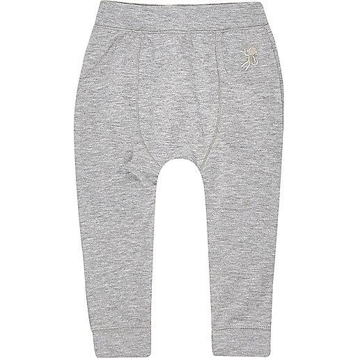Pantalon de jogging gris skinny mini garçon