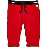 Mini boys red joggers