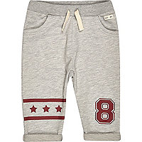 Mini boys grey star joggers
