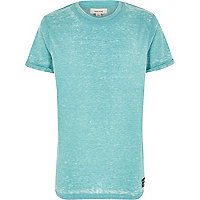 Boys bright turquoise burnout t-shirt