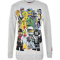 Boys grey Lego print sweatshirt