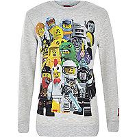 Boys grey Lego print sweatshirt