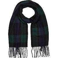 Boys green tartan scarf