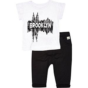 Mini boys Brooklyn t-shirt jogger outfit