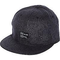 Boys black bandana print cap