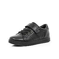 Boys black smart Velcro trainers