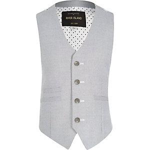Boys blue button up waistcoat