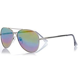 Boys rainbow aviator sunglasses