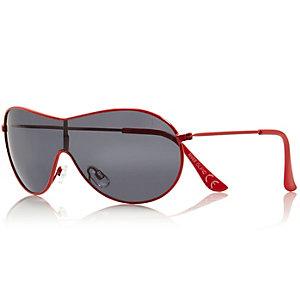 Boys red visor aviator sunglasses