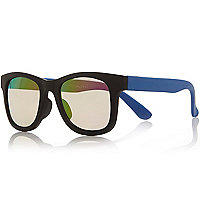 Mini boys black mirror sunglasses