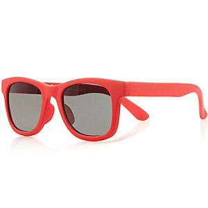 Mini boys red sunglasses