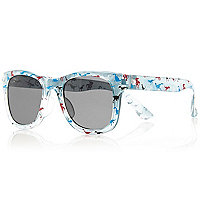 Mini boys green dinosaur print sunglasses