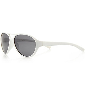 Mini boys white aviator sunglasses