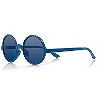 Mini boys blue round sunglasses