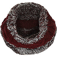 Boys dark red twist snood
