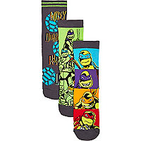 Boys ninja turtle 3 pack socks