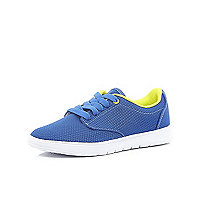 Boys blue lace up trainers