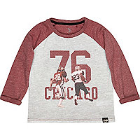 Mini boys red American football t-shirt