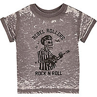 Mini boys grey rock n roll t-shirt