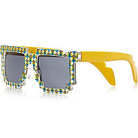Boys yellow Minion print sunglasses