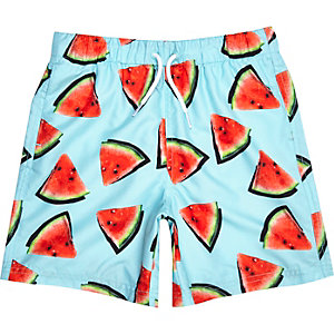 Boys blue melon print swimshorts