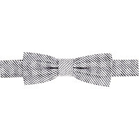 Boys silver check bow tie