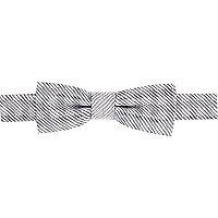 Boys silver check bow tie