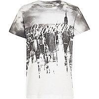 Boys white Brooklyn city print t-shirt