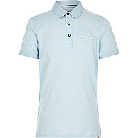 Boys light blue polo shirt