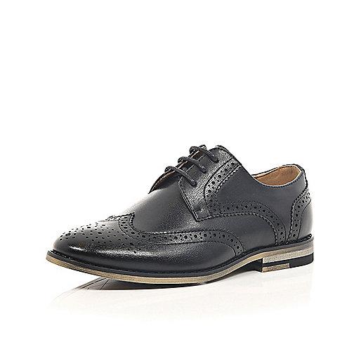 Chaussures richelieu habillées noires pour garçon
