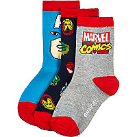 Boys mixed Marvel comics socks pack