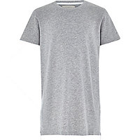 Boys grey zip hem t-shirt