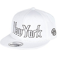 Boys white New York cap