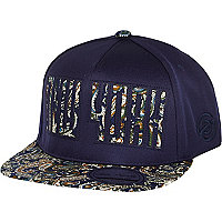 Boys navy New York paisley print cap
