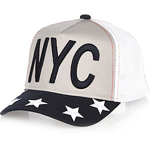 Boys grey NYC mesh cap