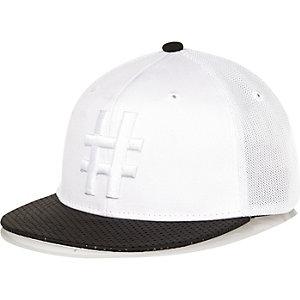 Boys white hashtag trucker cap